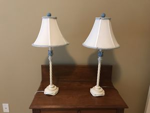 Great bedside lamps, sold as pair for Sale in Clayton, MO