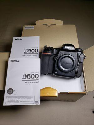Nikon D500 Pro level 20mp DSLR - 10FPS - 4K VID for Sale in Union City, CA