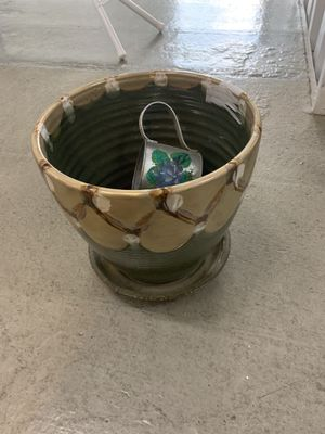 Decorative Flower pot with watering can for Sale in Silver Spring, MD