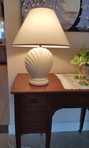 """White Shell Table Lamp 23"""" tall for Sale in Deerfield Beach, FL"""