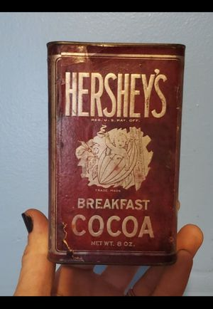 """1930s Hershey's Cocoa can W/paper label (5"""" tall) for Sale in Columbus, OH"""