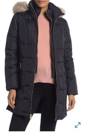NWT Michael Kors Down Jacket Parka Puffer Hooded Faux Fur Trim Quilted Size M for Sale in Chicago, IL