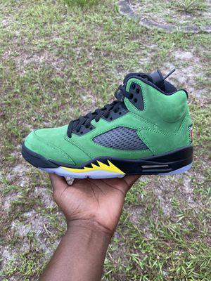 Air Jordan 5 retro SE Apple Green Oregon sizes 8 available for Sale in Miami Gardens, FL