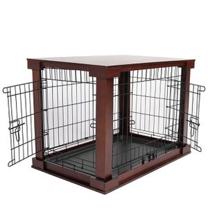 New In Box Wood And Metal Base Dog Crate Kennel Pet House With Double Door Size Medium ( Size Small Also Available) for Sale in Downey, CA