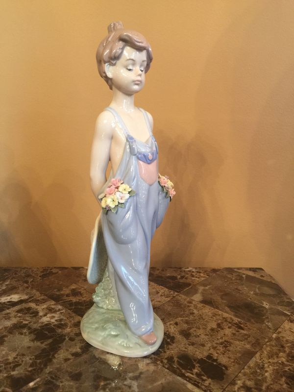 "Lladro Collector's Society Figurine #7650-""Pocket Full Of Wishes"" Retired 1997"