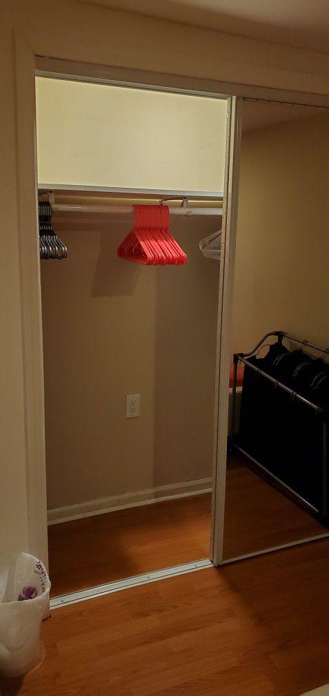 Mirror Glass Sliding Doors For Closet From Home Depot