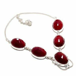 Red Carnelian Gemstone 925 Sterling Silver Jewellery Necklace 18 Inch. Brand new for Sale in Panama City Beach, FL