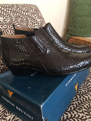 New brown genuine snake skin men's half boot for Sale in Little Rock, AR