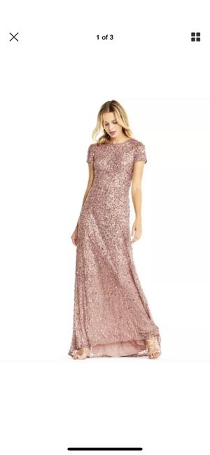 Adriana Papell Rose Gold Dress BRAND NEW WITH TAGS SIZE 4 $299 retail for Sale in Rialto, CA