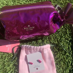 Kate spade ♠️ CANDY Crossbody & Earrings NWT 🎅🏼🎄 for Sale in Carson, CA