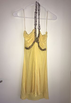 Yellow dress with bronze detail size S for Sale in Walnut Creek, CA