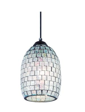 SHENGYADI Modern Mini Pendant Light with Hand Crafted Mosaic Shape, Stained Glass Pendant Lighting for Kitchen for Sale in Bakersfield, CA
