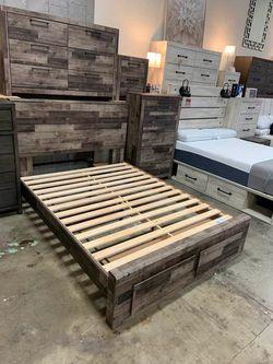 NEW IN THE BOX.BEDROOM SET: QUEEN BED +DRESSER+NIGHTSTAND SKU#TCB200-SET for Sale in Huntington Beach,  CA