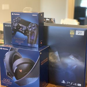 CIB 500 Million PS4 Pro With Brand New Controller And Headphones for Sale in Huntsville, AL