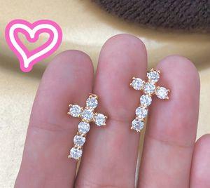 18K Gold Plated Cross Stud Earrings for Sale in San Ramon, CA
