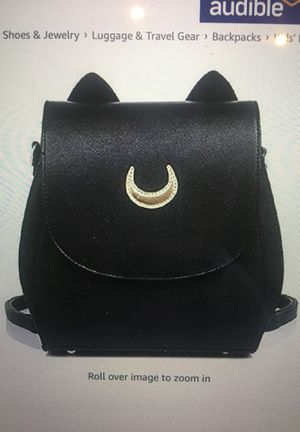 YOYOShome Sailor Moon Anime Luna Usagi Tsukino Cosplay PU Backpack School Bag - Black for Sale in Valrico, FL