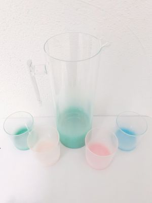 SUGAR & CLOTH OMBRE PASTEL HOME KITCHEN PITCHER & TUMBLER CUPS SET GIFT IDEA 🎁 for Sale in Los Angeles, CA