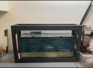 110 gallon aquarium , with custom stand and filter. for Sale in Las Vegas, NV