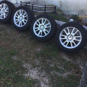 4 Kelly Edge 225/60R17 tires 5 lug multi lug pattern rims for Sale in Spring Hill, FL