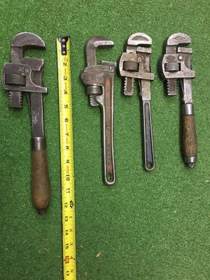 Four Adjustable Wrenches (Teeth) for Sale in Hayward, CA