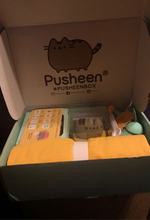 PUSHEEN BOX- spatula,cooling rack,4measuring spoons,cupcake liners, pot holder,recipe card,baker sweatshirt and mini vacuum for clean up for Sale in Gardena, CA
