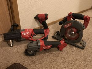 Milwaukke 4pc Fuel combo set cordless 18v for Sale in Kenmore, WA