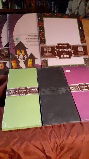 Halloween themed paper w/envelopes for Sale in Hemet, CA