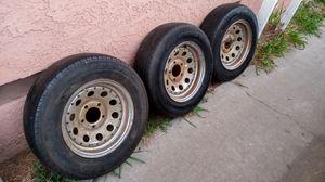 (3) Wheels/ Tires 195/ 70/ 14 GM Lug Pattern for Sale in Bellflower, CA