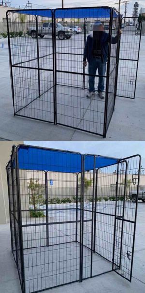 """New 72"""" Tall x 32"""" Wide Panel Heavy Duty 8 Panels Dog Playpen Pet Safety Fence gate valla Para perros (tarp not included) for Sale in Whittier, CA"""