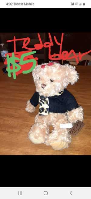 Teddy bear has $30 tags on it like new for Sale in Saint Thomas, PA