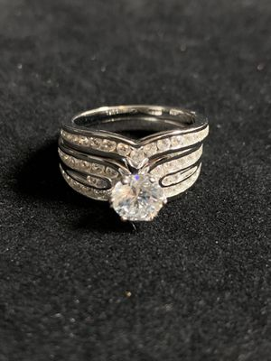Sterling Silver CZ Engagement Ring for Sale in Quincy, IL