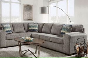 Large Grey Sectional Sofa Couch!! Brand New Free Delivery for Sale in Chicago, IL