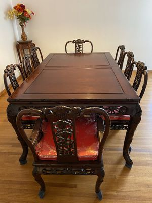 Vintage Rosewood Antique Dining Table Set for Sale in Alhambra, CA
