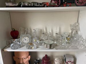 Glass collection including Rainbow red apple for Sale in Las Vegas, NV