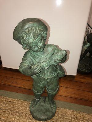 Bronze Boy w/ Fish Fountain Statue for Sale in Tampa, FL
