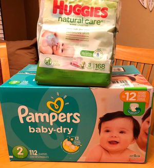 Size 2 diapers and wipes bundle for Sale in Fontana, CA