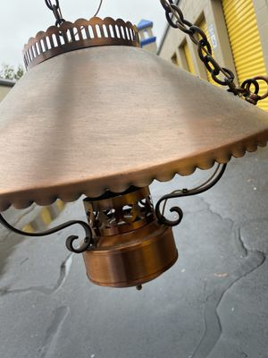 Copper Hanging Lamp for Sale in Virginia Beach, VA