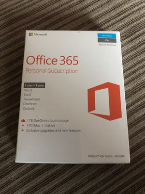 Office 365 personal subscription for Sale in Garden Grove, CA
