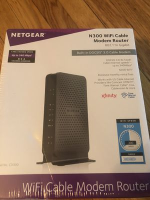 New unopened N300 WiFi Cable Modem Router for Sale in Boston, MA