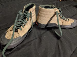 Van all green high tops shoes for Sale in Riverside, CA
