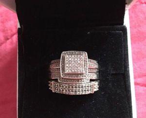 10k white gold diamond wedding set for Sale in Framingham, MA