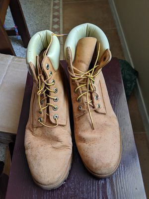 Timberland 12w leather boots for Sale in Las Vegas, NV