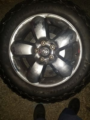 Dodge ram 1500 rim with bf Goodrich tire for Sale in The Bronx, NY