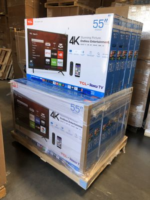 55 INCH TCL ROKU SMART 4K TVS ! for Sale in Alhambra, CA