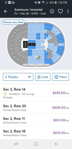 Aventura Concert Friday for Sale in Chicago, IL