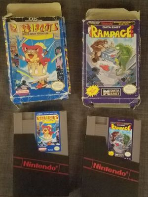 2 nes games with boxes. Make offer or trade. for Sale in Everett, WA