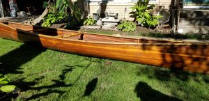 18' beautiful cedar strip canoe please note this app isn't working right if you've messaged me it deleted all context. Please send again. for Sale in Minneapolis, MN