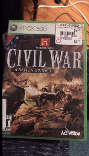 xbox 360 civil war game for Sale in Stoneham, MA