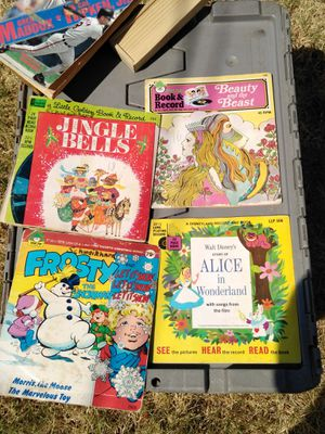 "Vintage 35""record story books for Sale in Abilene, TX"