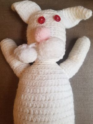 Vintage handmade crocheted bunny rabbit for Sale in Three Rivers, MI